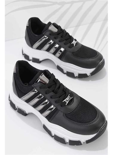 Bambi Kadın Sneaker K01836001509 Siyah